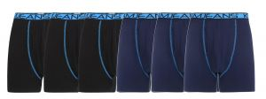 Kam Mens Big Size Cotton Rich 6 Pack Jersey Boxers (807) in Black/Navy