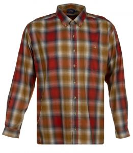 Espionage Mens Big Size Long Sleeve Shadow Check Casual Shirt (310)