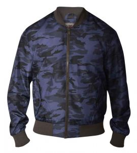D555 Mens Lightweight Lined Camouflage MA1 Bomber Jacket (Camo)