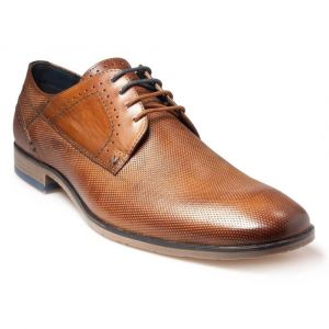 Pod Mens Lace up shoe (Illinois) in Cognac