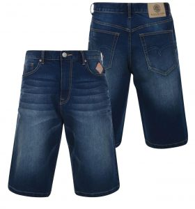 KAM MENS DARK WASH STRETCH RELAXED FIT DENIM SHORTS (RIDER) IN WAIST 40 TO 60 INCHES