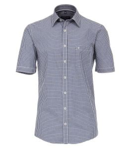 Casa Moda Mens Premium Cotton SS Comfort Fit Gingham Check Shirt