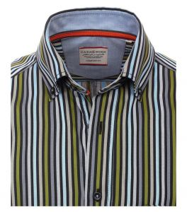 Casa Moda Premium Cotton Long Sleeve Striped Shirt in Size L to 5XL, 2 Options