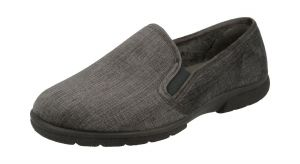 Men'S Slippers / House Shoes (Kendal)6V Wide Fit By Db Shoes in Grey