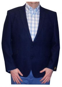 SCOTT Mens Shetlands New Wool Blue Sports Jacket in Chest Size 40 to 60 Inches, S/R/L