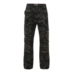 KAM Big Size Relaxed Fit Pure Cotton Camou Combat Trousers