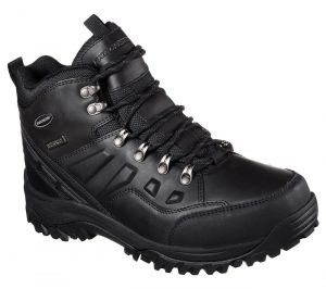 SKECHERS Men's Relaxed Fit: Relment-Traven Waterproof Boots in Black