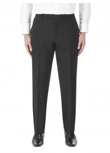 SKOPES Mens Wool Rich Darwin Black Suit Trousers