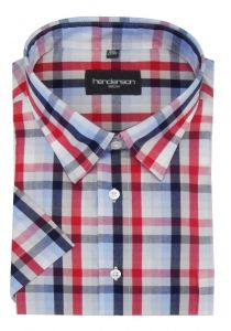 Henderson Cotton Rich Block Check Leisure Short Sleeve Shirts (3746) Size 2XL-6XL, In 2  Options