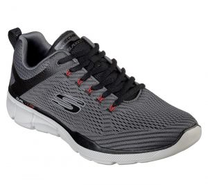 SKECHERS Men's Relaxed Fit-Equalizer 3.0 Track shoe/Trainers in Charcoal/Black
