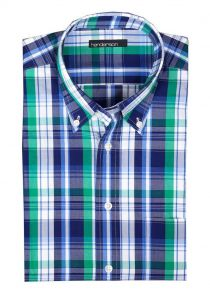 Henderson Cotton Rich Short Sleeve Check Shirts (3357), S to XXL, 2 options