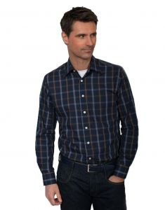 Henderson Mens Cotton Rich Large Check LS Leisure Shirt (36430) in Size 2XL to 6XL
