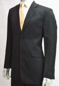 """VOEUT MENS FORMAL SINGLE BREASTED 2 BUTTON SUIT JACKET (DANTY) IN BLACK CHEST SIZE IN 36 TO 64"""", SHORT AND REGULAR"""
