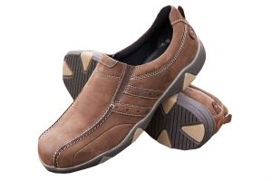 DB's Men's Extra Wide and Deep Shoes in 2V fit (2E-4E) in Nubuck Brown in Size UK7 & UK8
