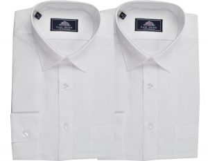 Rael Brook Mens Formal Long Sleeved Multi Pack Shirts in White