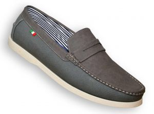 D555 ADONIS Slip On Shoe in Grey Brooklyn