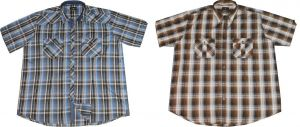 COTTON VALLEY POLY SHORT SLEEVED TWIN POCKET FASHION SHIRTS 2XL TO 8XL