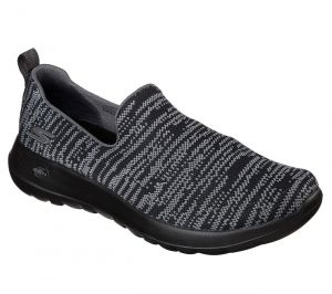 SKECHERS Men's GOwalk Max - Infinite Casual Shoes/Trainers in Black/Gray