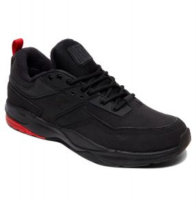 DC Shoes Mens E.Tribeka Winterised Leather Shoes In Black/Black/Red