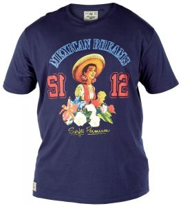 """D555 EXTRA TALL COTTON PRINTED TEE SHIRT """"MAXICAN DREAMS"""", SIZE LT-3XLT ,2 COLORS"""