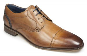 Paul O'Donnell Mens Lace Up Formal Shoe -Iowa Cognac in Size UK 10.5 to UK 15