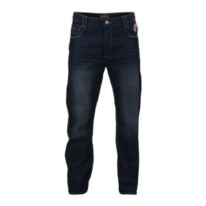 "KAM MENS INDIGO BLUE DARK WASHED COATED & BELTED JEANS (EATON) IN WAIST SIZE 40 TO 60"" & INSIDELEG 30/32/34"
