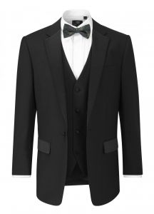 SKOPES Mens Latimer 2 Piece Dinner Suit in Black in Size 38 to 60 Inches/S/R/L