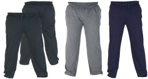 ROCKFORD MENS POLY COTTON LIGHT WEIGHT FLEECE JOGGING BOTTOM (RAY) SIZE 1XL TO 8XL