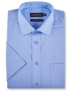 Double Two Mens Half Sleeved Non Iron Cotton Rich Shirts (4500)