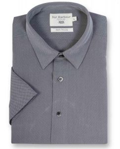 Mens Bar Harbour Black Soft Touch Casual Shirt (0155) in Size Medium to 5XL