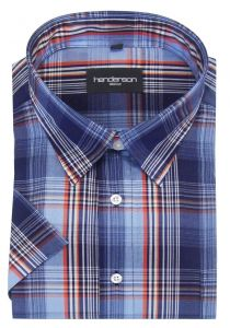 Henderson Cotton Rich Large Check Leisure SS Shirts(3740)in Size 2XL to 6XL