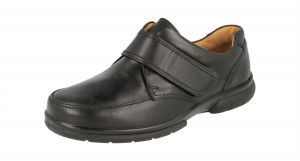 "DB SHOES Extra Extra And Deep Touch Strap Leather Shoes ""Havent"" in Black (6E -8E FIT)"