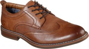 Skechers Bregman Modeso Lace Up Lace Mens Shoes in Cognac
