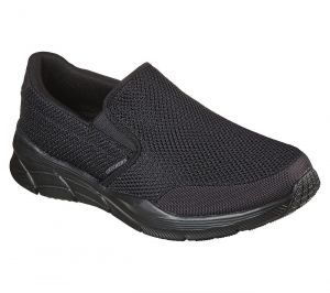 SKECHERS Men's Extra Wide Fit (4E) Equalizer 4.0 Krimlin Walking/Running Trainers in Black