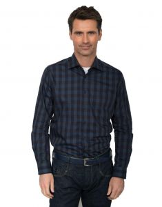 GCM Pure Cotton Checked LS Shirt With Cutaway Collar(3605)in Size 2XL to 6XL