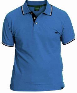 RACER-D555 Extra Tall Polo Shirt With Contrast Tipping & Chest Embroidry