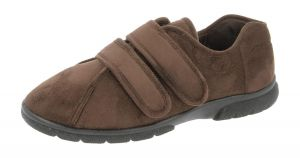 Men'S Slippers / House Shoes (Joseph)6V Wide Fit By Db Shoes in Brown