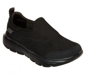 SKECHERS Men's GoWalk Evolution Ultra-Rapids Walking/Running Shoes/Trainers in Black
