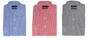 Double Two Pure Cotton Easy Care Checked Formal Shirt(3605)