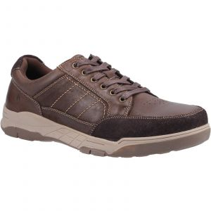 Hush Puppies Finley Laces Mens Shoes in Coffee