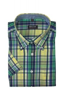 GCM Premium Cotton Short Sleeved Check shirt (3371) in Size S to XXL