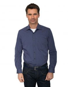 GCM Pure Cotton Striped Long Sleeved Shirt (3608) in Purple in Size 2XL to 6XL