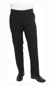 SKOPES MENS WOOL RICH OTIS PLAIN BLACK SUIT TROUSER IN WAIST SIZE 30 TO 60