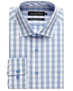 Double Two Mens Big Size Pure Cotton Pattened Shirts (AW20)