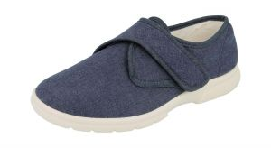 Men'S Canvas / Summer Shoes (Cannock)6V Wide Fit in Navy By DB Shoes in Navy
