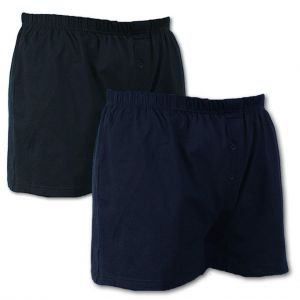 Mens Big Size Twin Pack Button Front Boxer Shorts (U001) By Espionage
