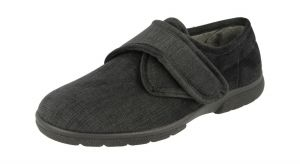 Men'S Slippers / House Shoes (Hallam)6V Wide Fit By Db Shoes in Black
