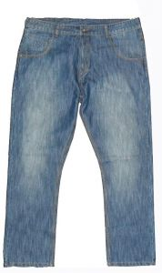 """CARABOU MENS SMART FIT MID WASHED FADED BLUE MODERN FASHION JEANS (RV-117) IN WAIST 32"""" TO 56"""" & L29"""" TO 33"""""""