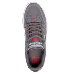 DC Shoes Mens Maswell Light Premium Leather Shoes/Trainers in Light Grey/Dark Grey