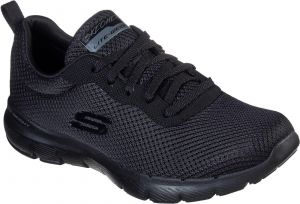 Skechers Flex Appeal 3.0 - First Insight Lace Up Air Cooled Memory Foam Shoe Ladies Sports in Black